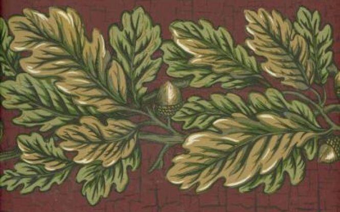 Rustic Leaves Acorn Wallpaper Border Wallpaper borders Pinterest 665x415