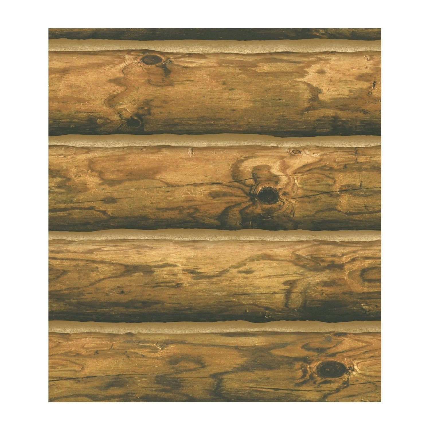 Log Wallpaper Rustic Cabin Lodge CH 7980 Pre Pasted Double Roll 1500x1500