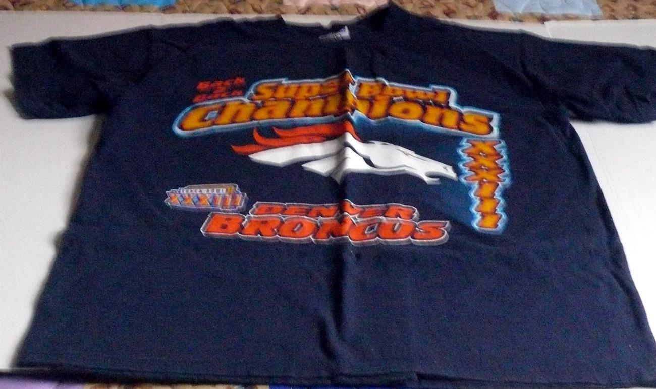 Vintage Denver Broncos T ShirtBack To Back Super Bowl Champs XXXIII 1300x772