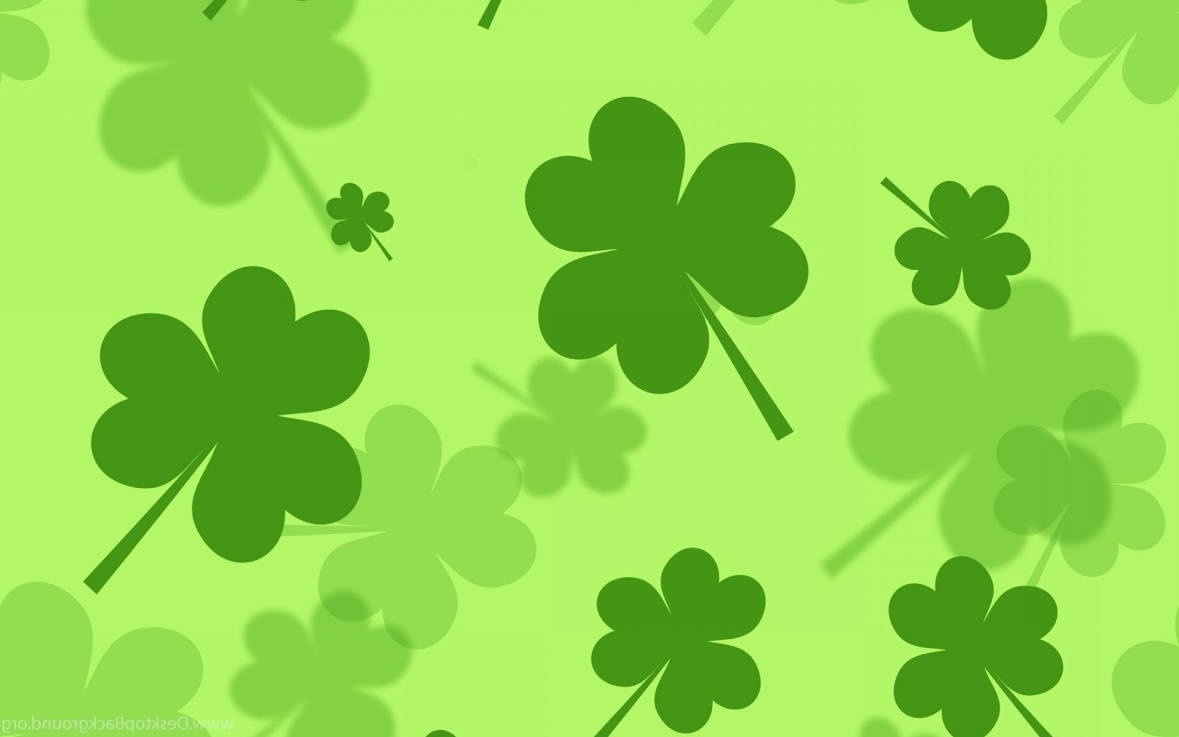 St Patricks Day Shamrock Backgrounds SOIDERGI 2304x1440