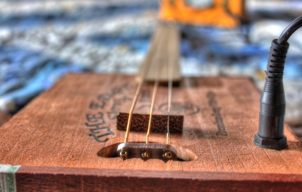 Wallpaper cigar box guitar bokeh music wallpapers music   download 596x380