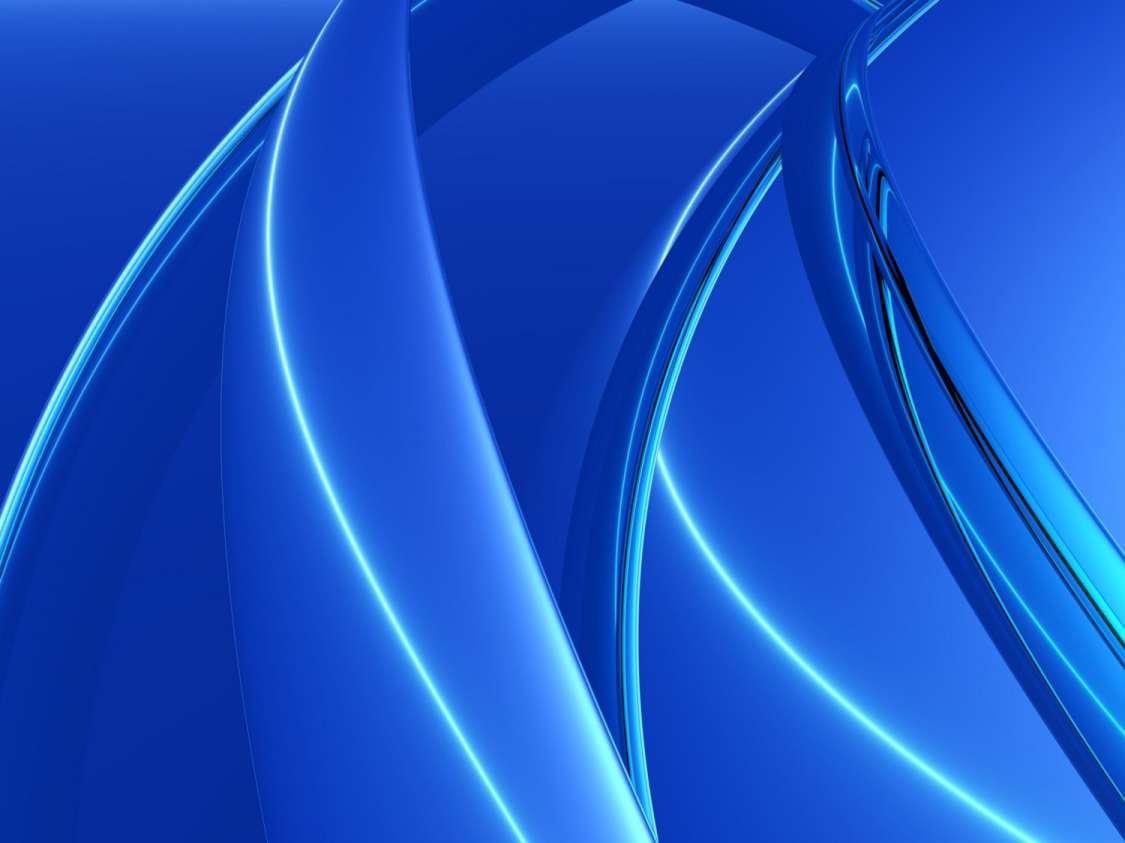 3d Light Effects Ppt Background: 3D Blue Wallpaper