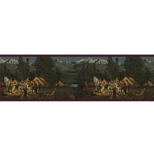 Walls Lodge D cor Campfire Border Wallpaper   Walmartcom 500x500