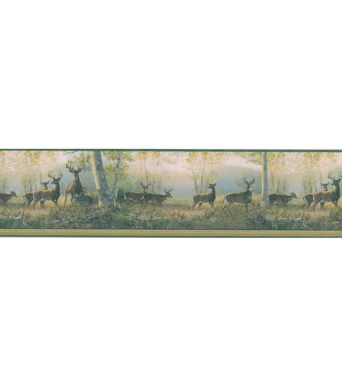 Scenic Deer Wallpaper Border GreenScenic Deer Wallpaper Border Green 1200x1360