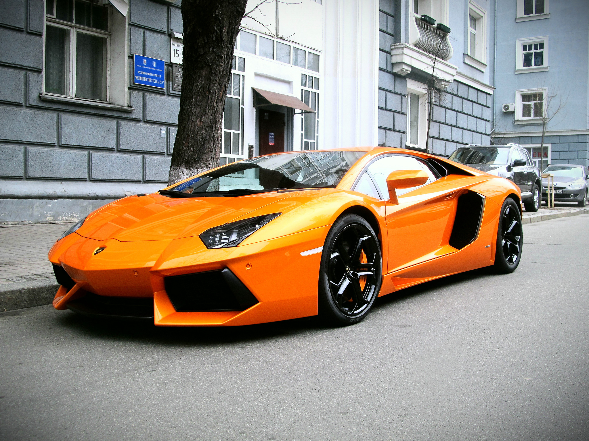 Wallpapers lamborghini aventador lp 700 4 lamborghini orange 2048x1536