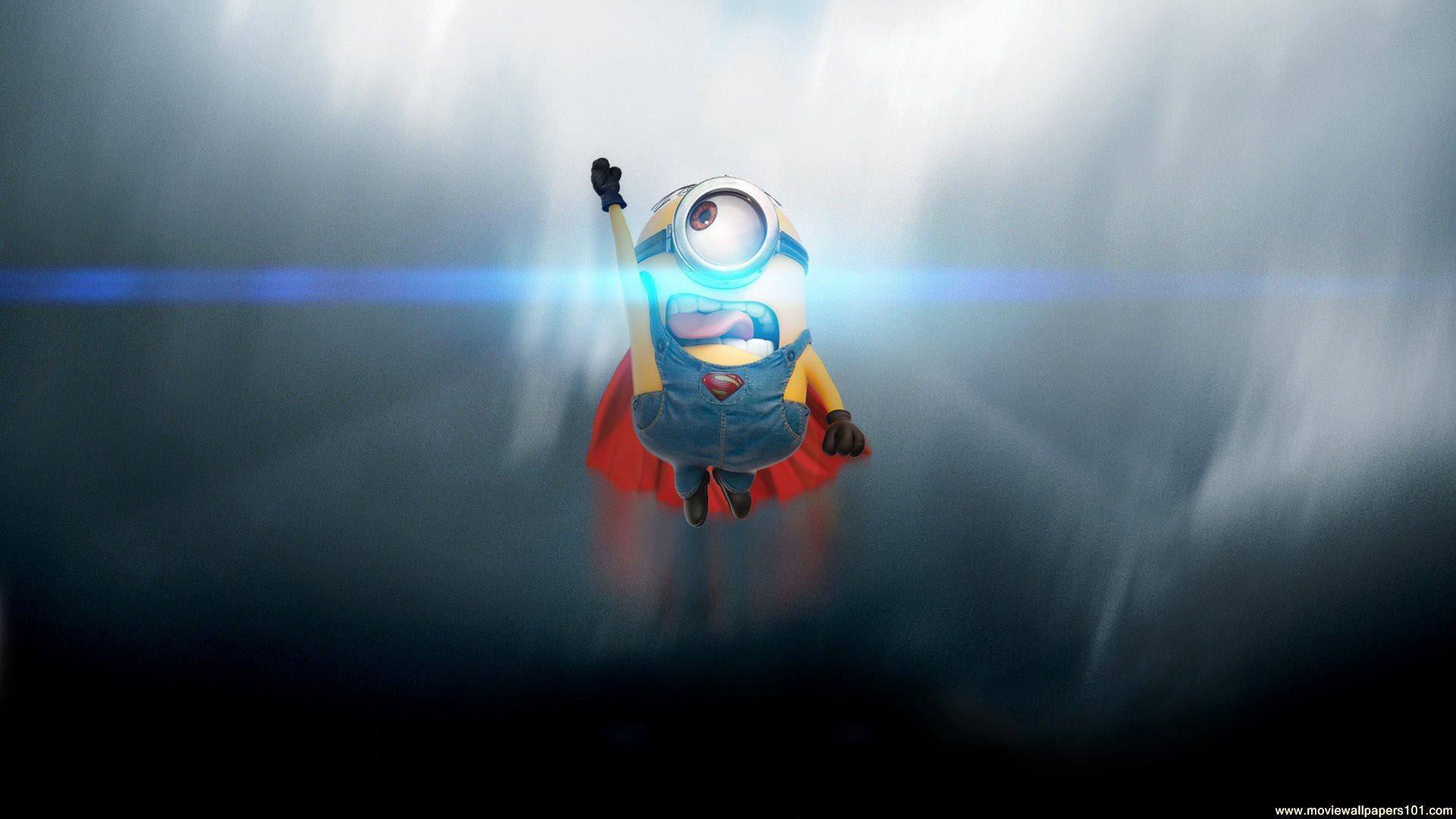 Minions 2015 Movie The Superman HD Wallpaper   StylishHDWallpapers 1920x1080