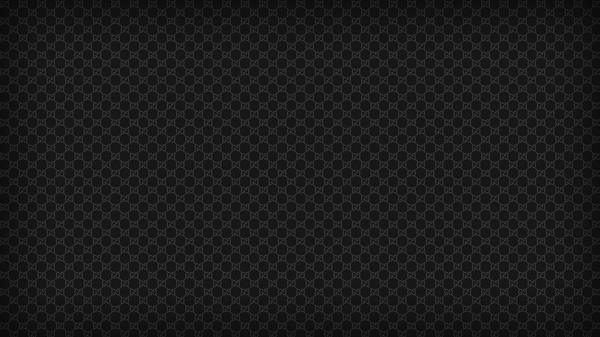 Black patterns textures gucci designer label wallpaper 429 1920x1080