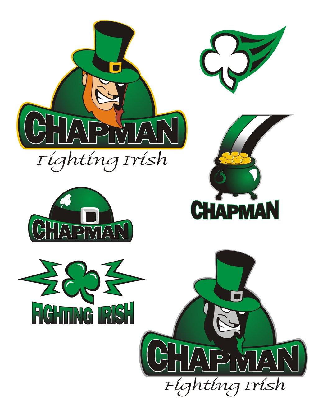 Chapman Fighting Irish Logos by travisself 1024x1325