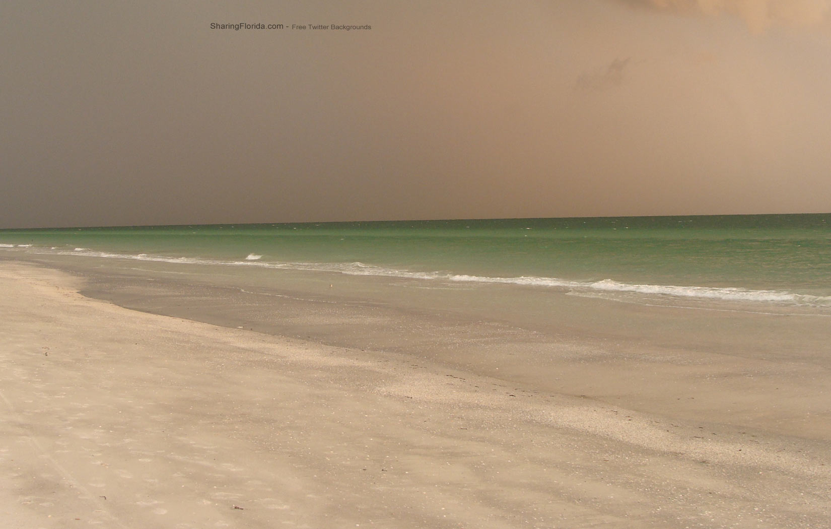 Layouts and Wallaper Backfrounds of Florida Beaches for Twitter 1650x1050