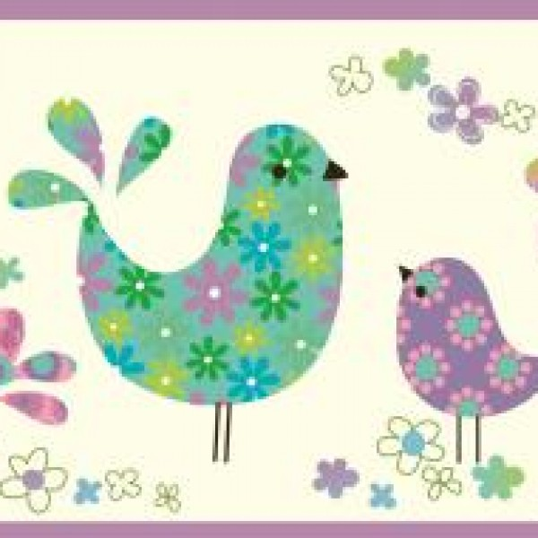 CALICO BIRDIES Wallpaper Warehouse 600x600