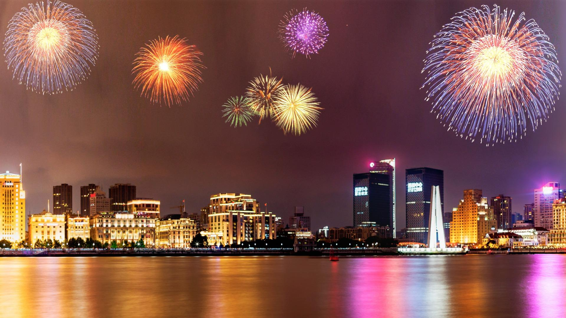 New Year Fireworks HD Wallpaper Wallpaper Studio 10 1920x1080