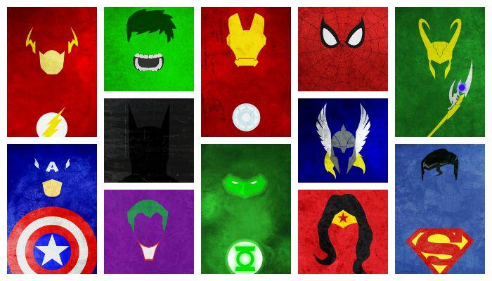 Superheroes Logos Wallpaper - WallpaperSafari
