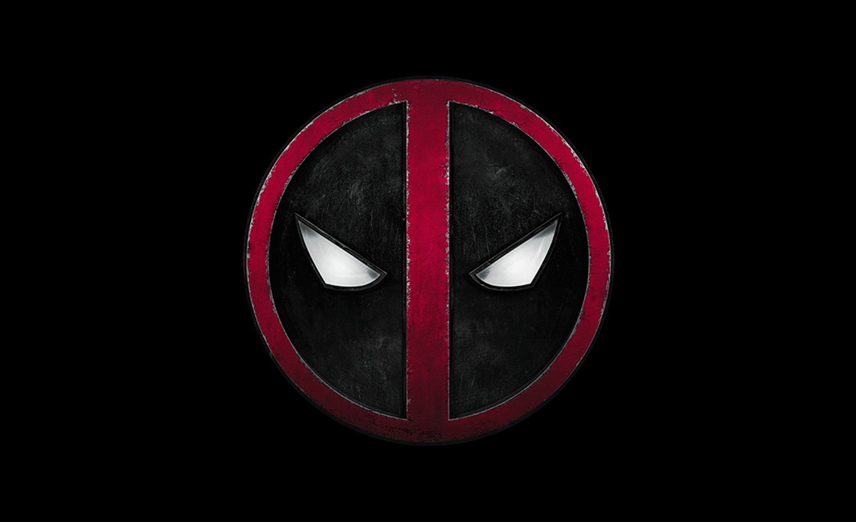 Deadpool Logo Black   HD wallpapers 1680x1024