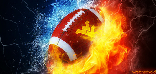 WVU Football h2o Fire wide 2012 Flickr   Photo Sharing 500x238