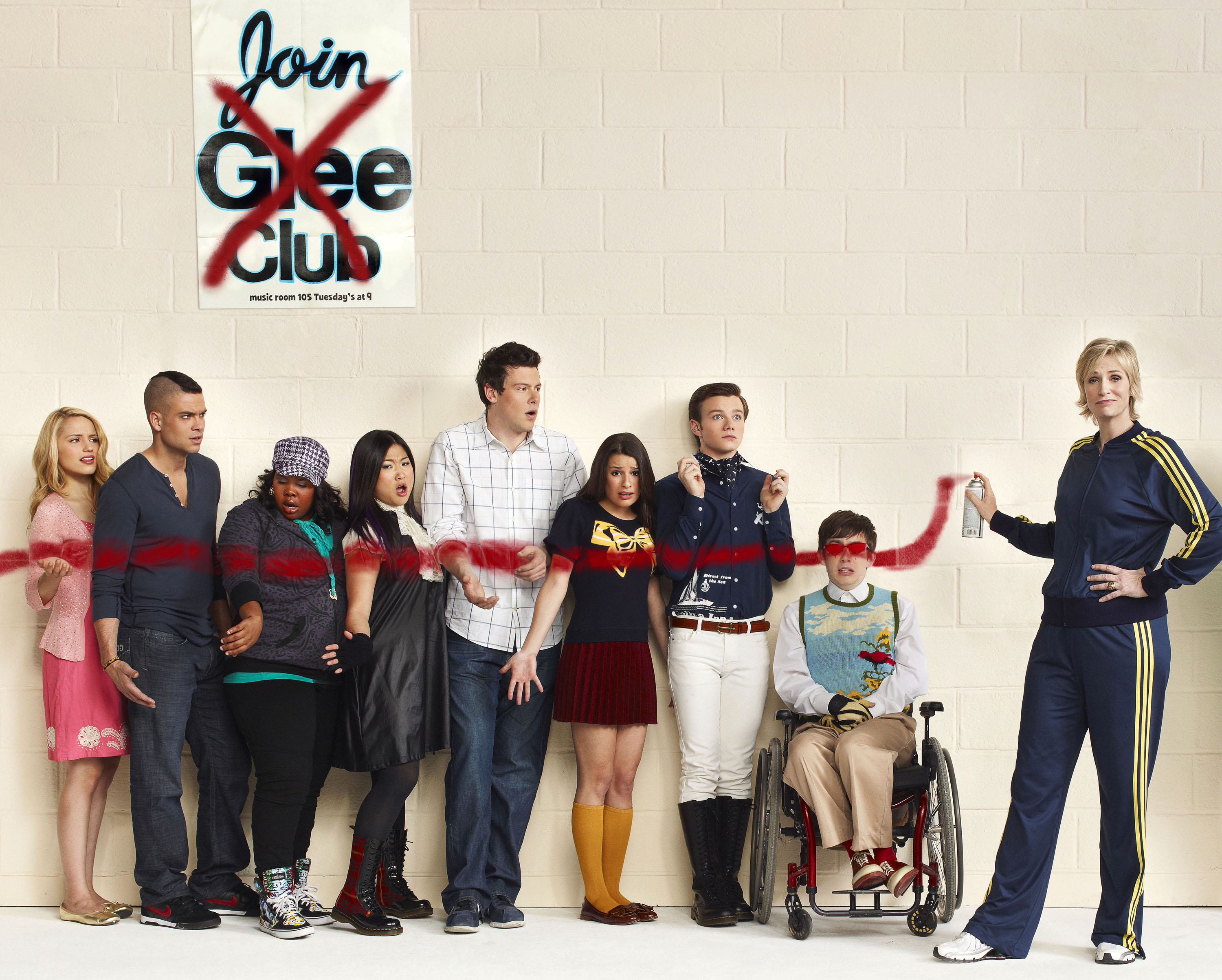 Free download Glee Season 3 wallpaper 25493 [3000x2404] for