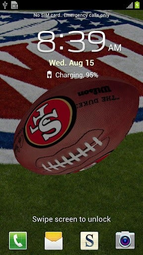 View bigger   San Francisco 49ERS 3D LWP for Android screenshot 288x512