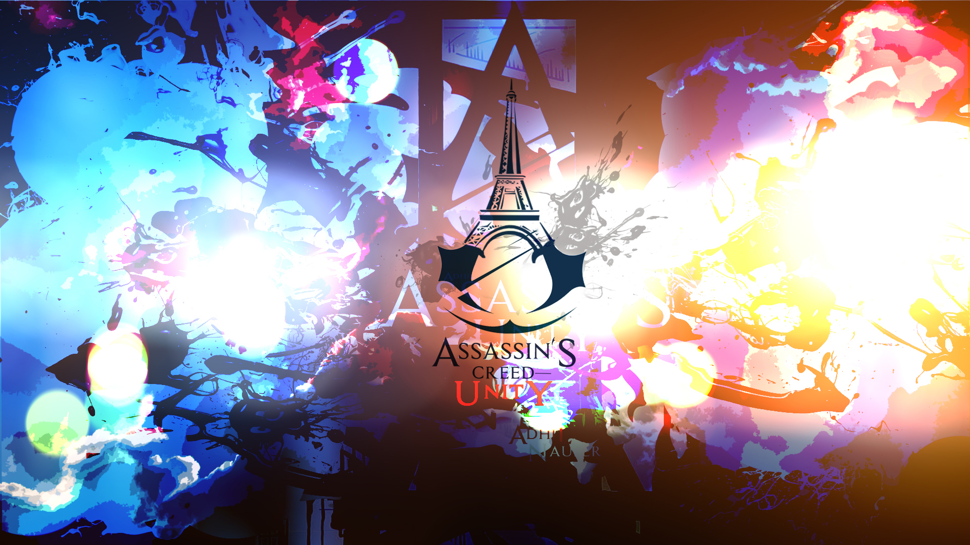 logo of assassin s creed unity game hd 1920x1080 1080p wallpaper and 1920x1080
