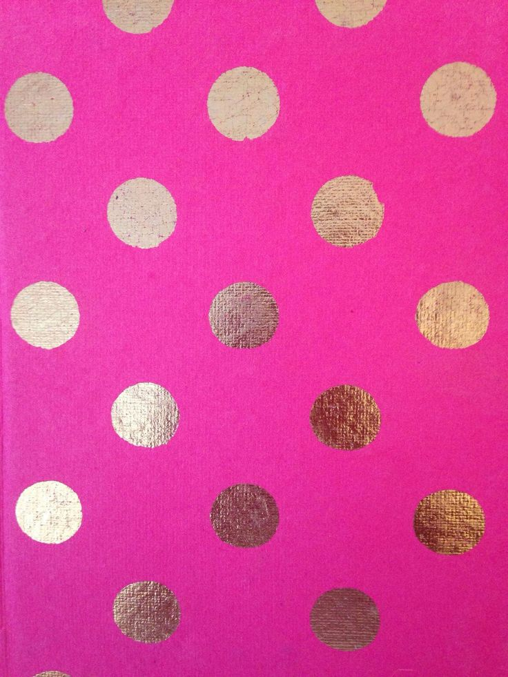 pink and gold polka dots wallpapers Pinterest 736x981