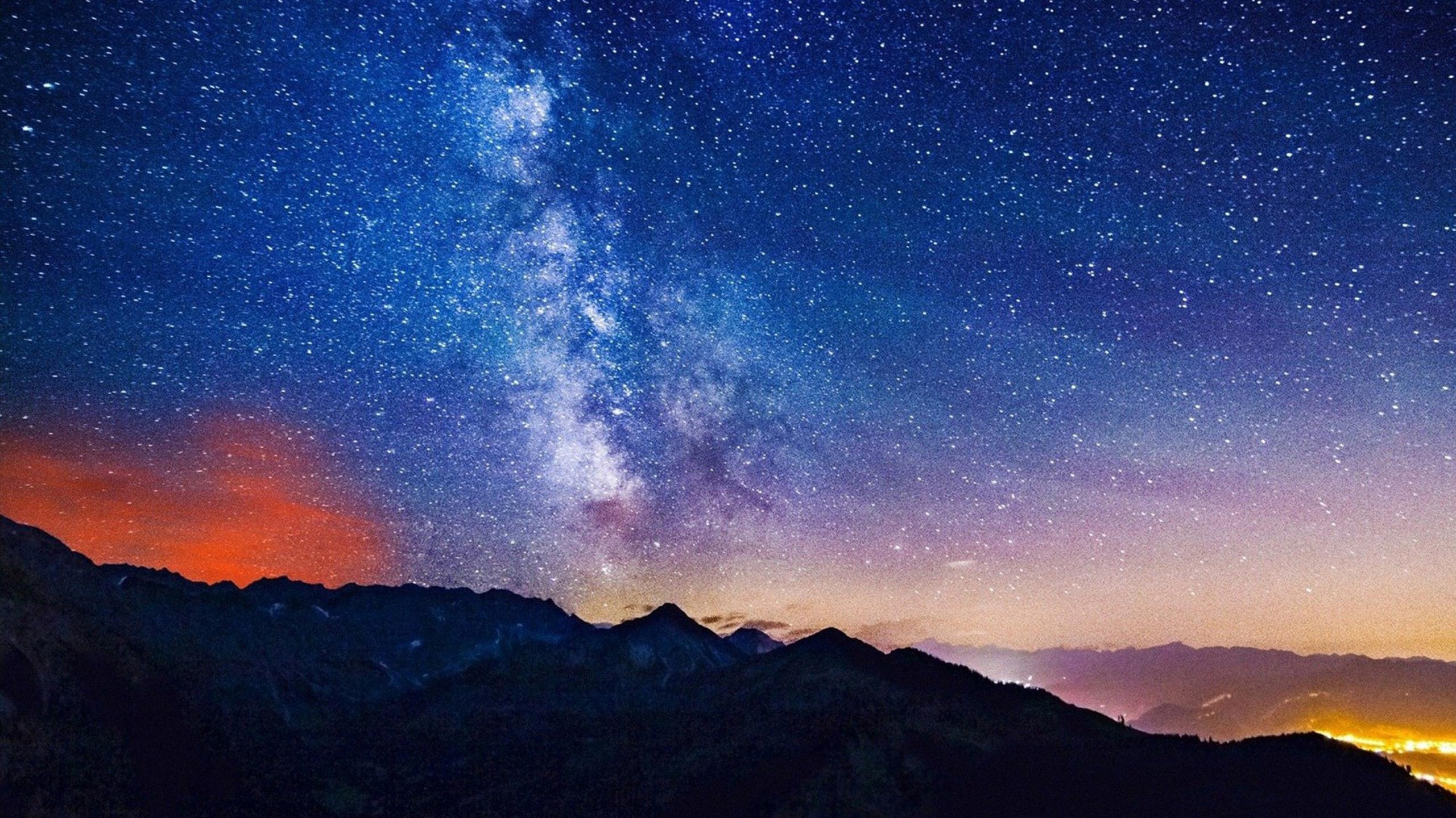 Starry night sky Wallpapers HD HD Desktop Wallpapers 2560x1440
