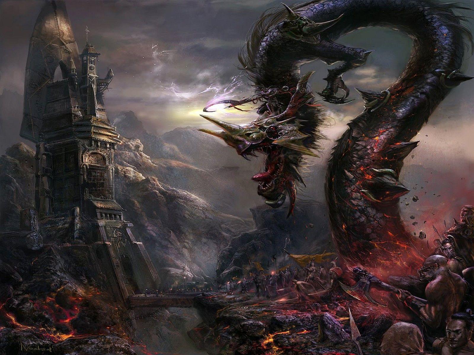 Gothic Dark Art Fantasy Dragon picture nr 55917 1600x1200