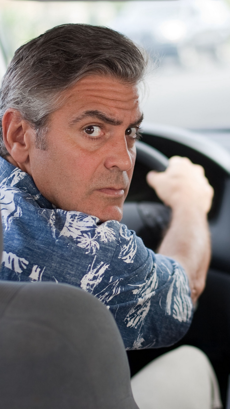 Download wallpaper 800x1420 the descendants george clooney 800x1420