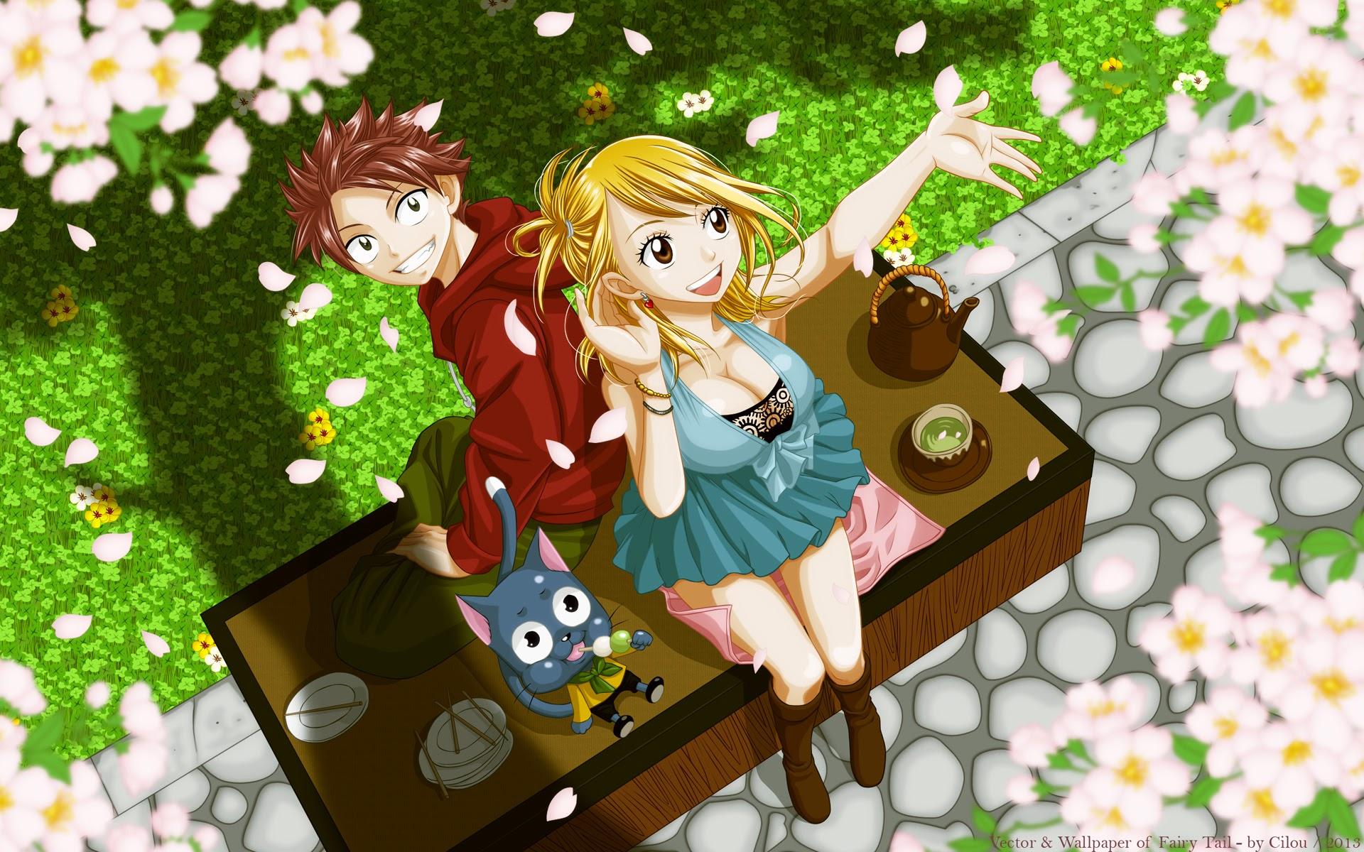 lucy natsu happy fairy tail anime wallpaper 1920x1200 1920x1200