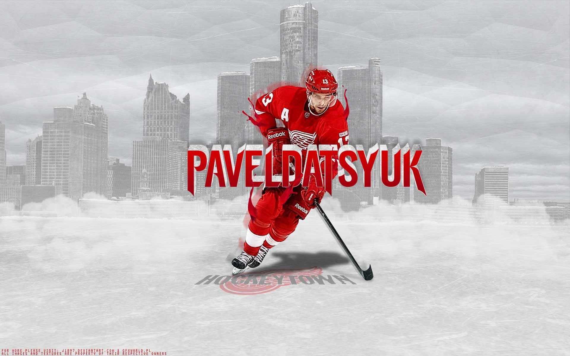 Hockey nhl dat detroit red wings pavel datsyuk wallpaper 25451 1920x1200