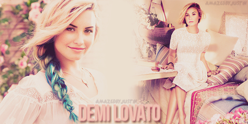 enchantment graphics Demi Lovato Backgrounds Icons and Header 500x250