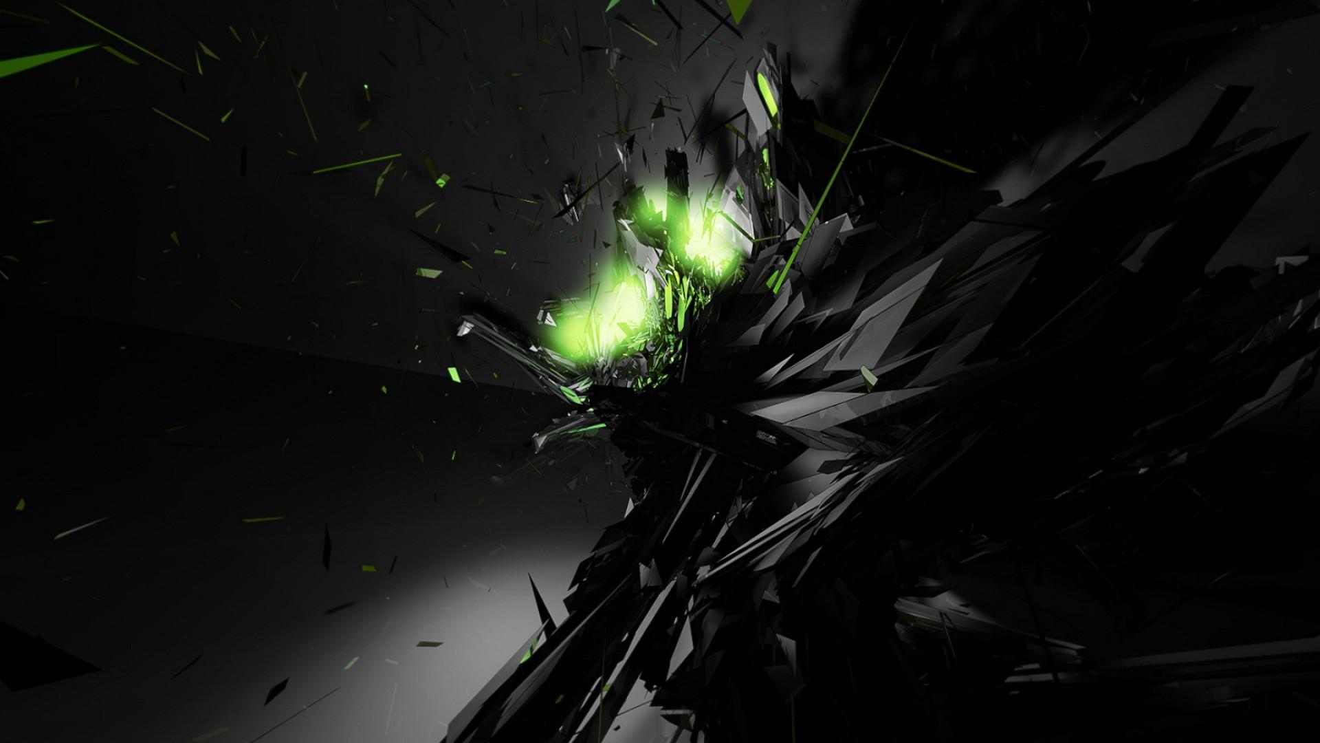 Black Abstract Green Glow Desktop Wallpaper High Quality Wallpapers 1920x1080