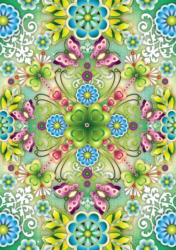 Mandala Clover by Catalina Estrada DecalGirl Inspirational Art 600x850