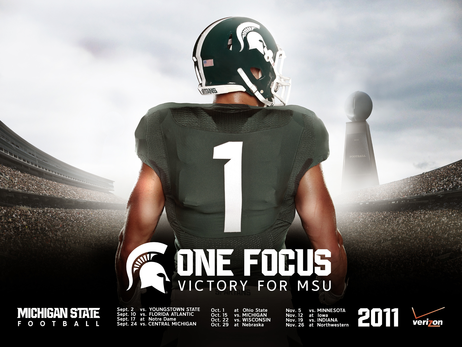 Msu spartans football wallpaper wallpapersafari - Michigan state football backgrounds ...