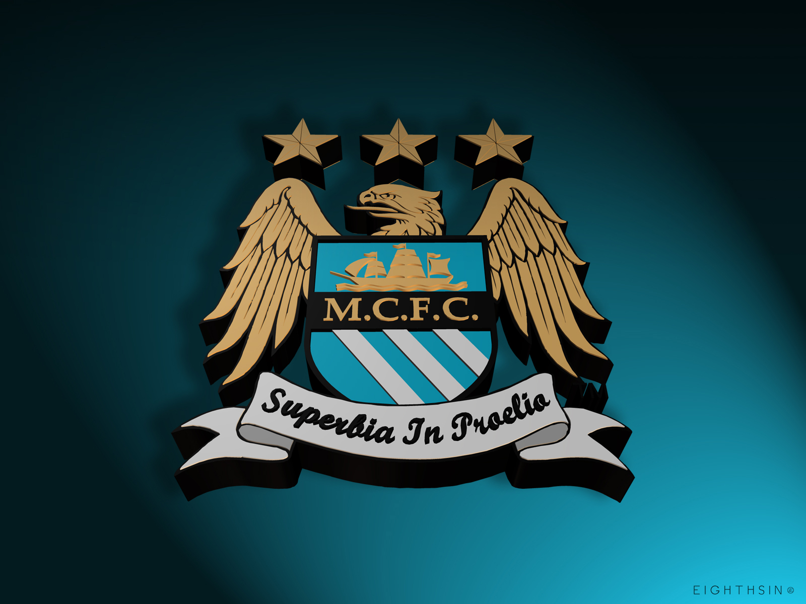 Free Download Manchester City 3d Desktop Wallpaper Eighthsin