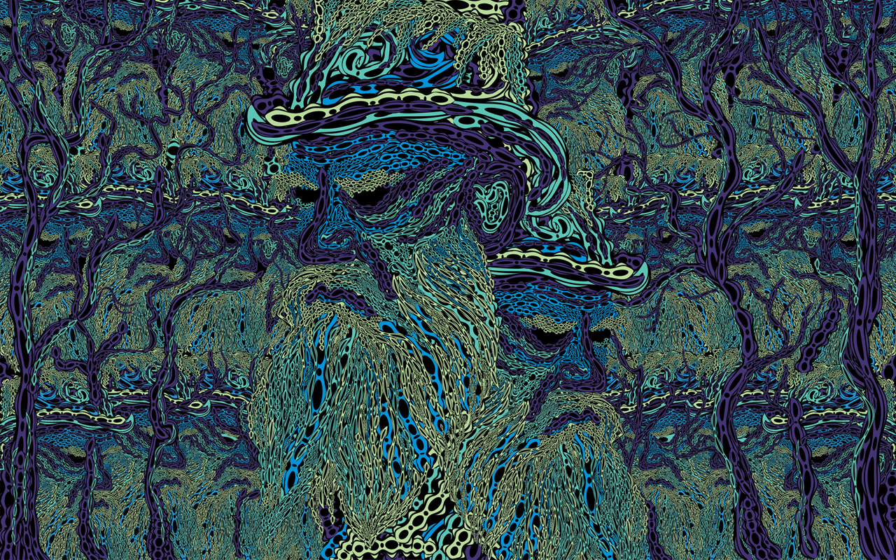 Tolstoy psychedelic wallpaper by Andrei Verner 1280x800