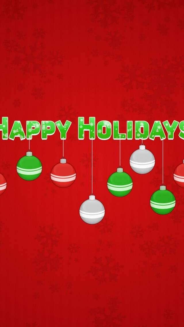 Happy Holidays Red iPhone 5 Wallpaper HD   Download iPhoneWalls 640x1136