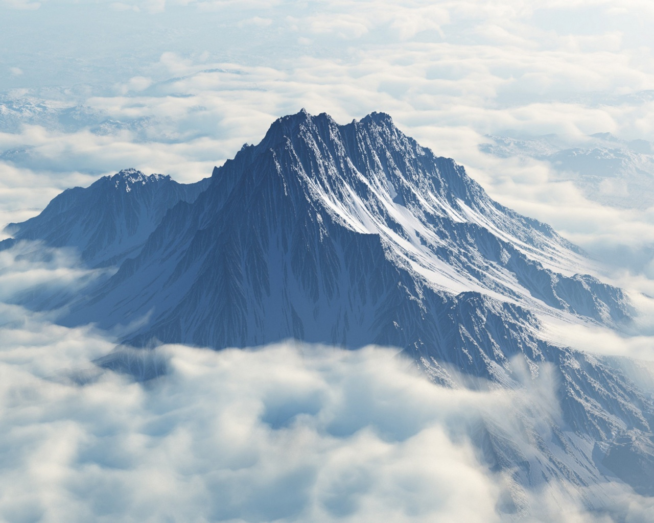 1280x1024 Mount Olympus Aerial View desktop PC and Mac wallpaper 1280x1024