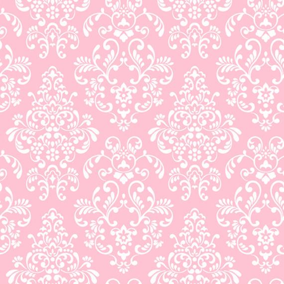 Pink Delicate Document Damask Wall Paper   Wall Sticker Outlet 570x570