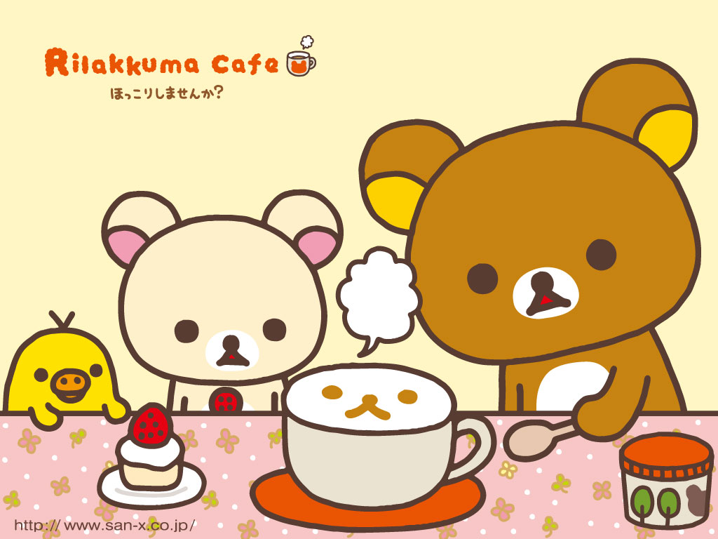 Rilakkuma Cafe Wallpaper Kawaii Wallpapers 1024x768