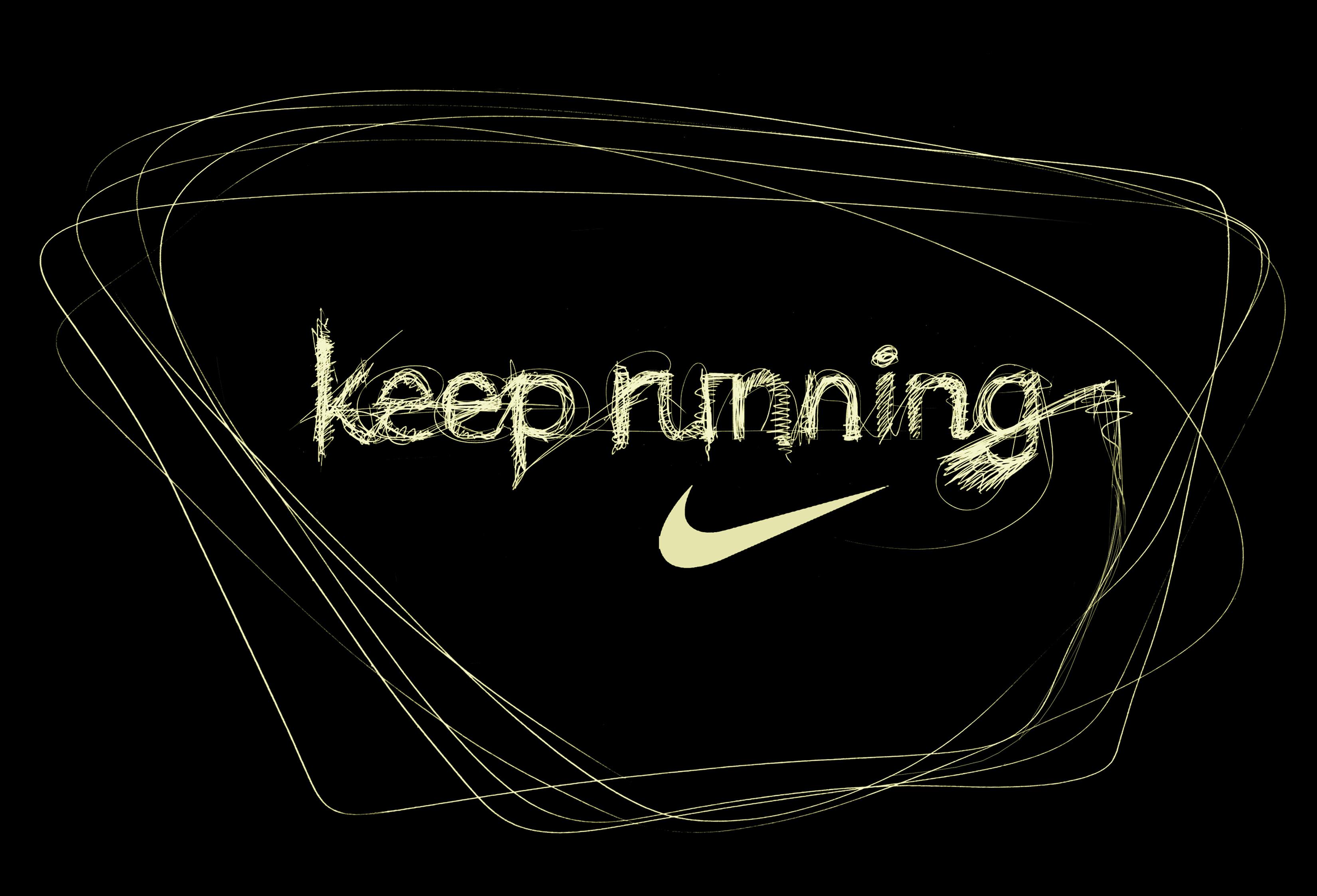 operanm systmu nastavuje wallpaper Nike Running   Keep Running 3300x2246