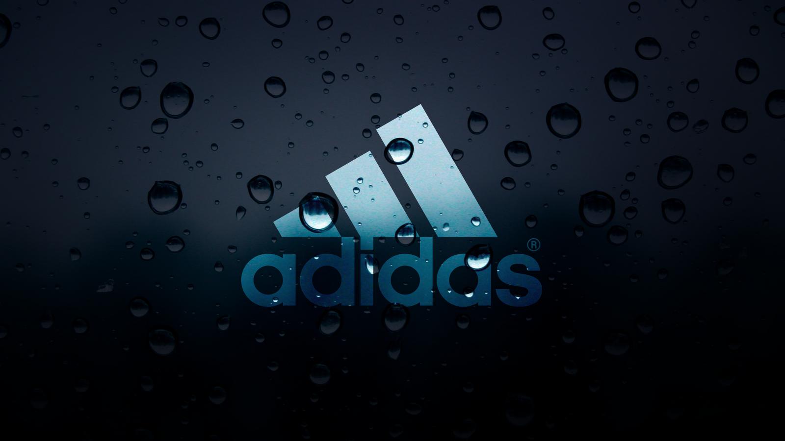 Adidas Water Drops Wallpaper 1600x900