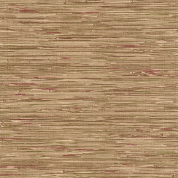 Faraji Light Brown Faux Grasscloth Wallpaper 414 44139