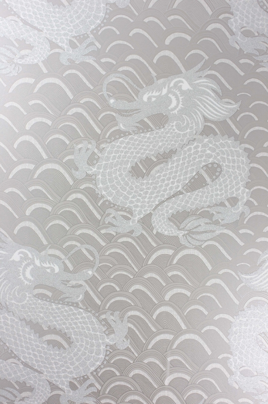 Celestial Dragon Wallpaper An oriental inspired wallpaper designed by 534x805