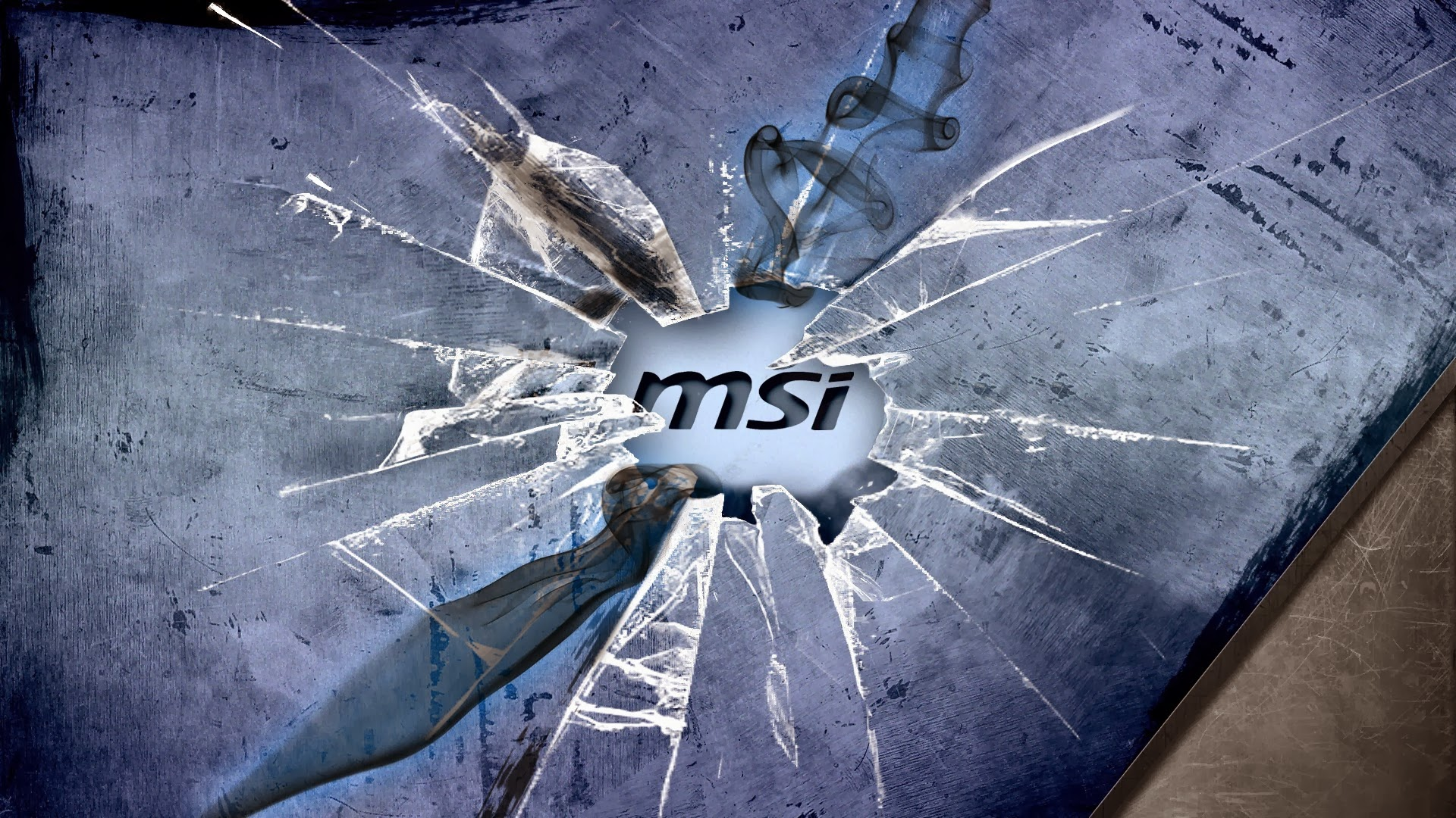 broken windows glass msi logo hd wallpaper 19201080 a520 1920x1080