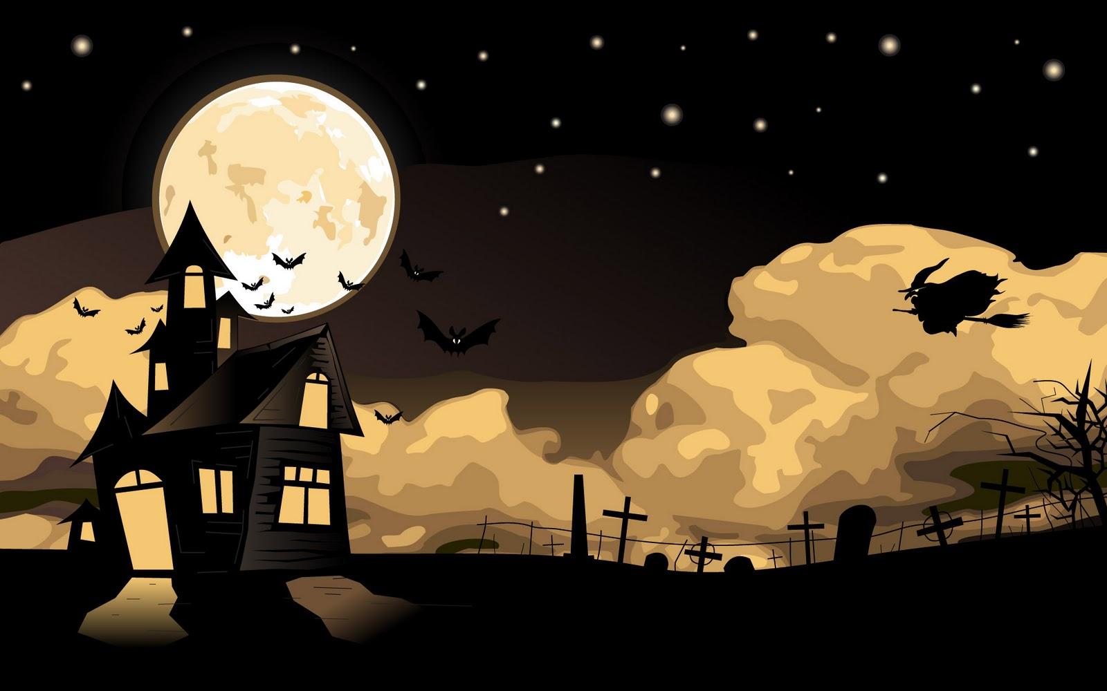 wallpaper freescary halloween screensavershalloween wallpaper 1600x1000
