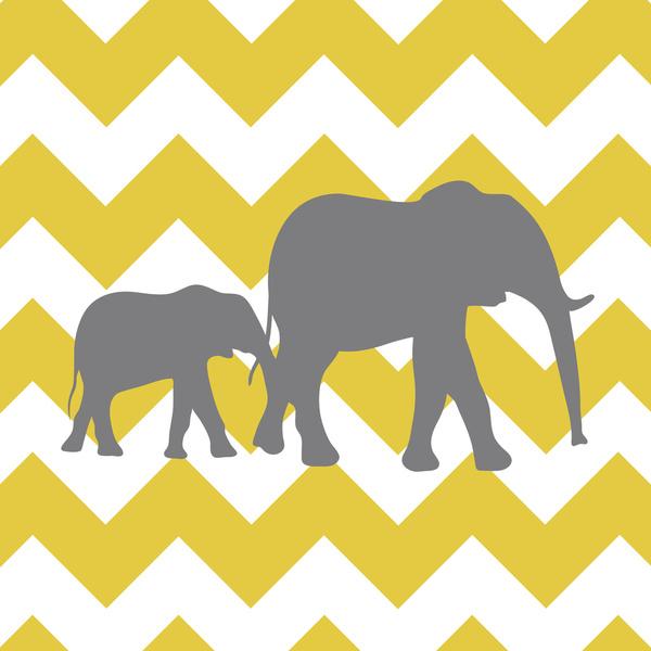 Yellow And Grey Chevron Wallpaper Chevron elephants yellow and 600x600