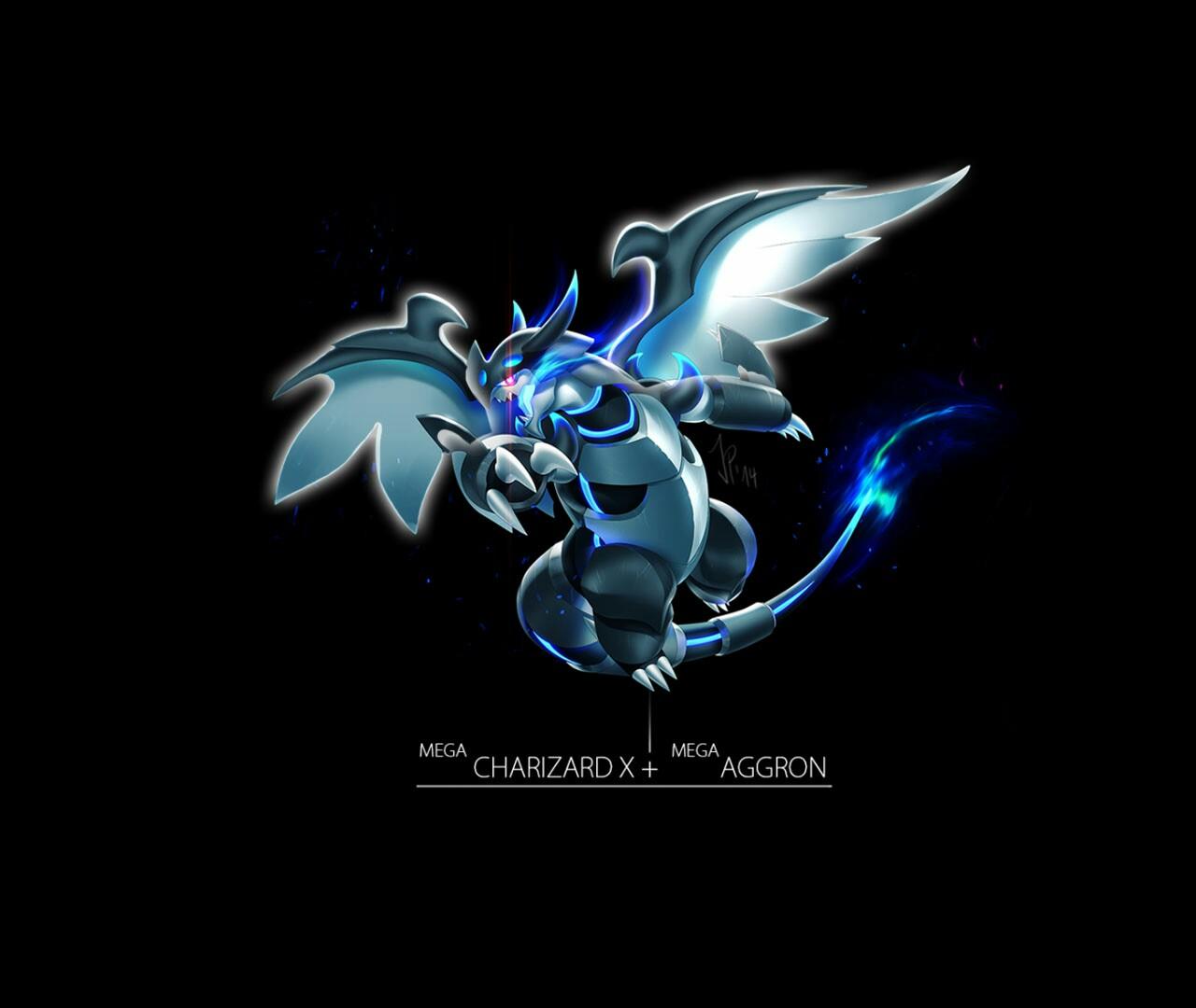 Charizard X Aggron Pokemon fusion Pinterest 1280x1080