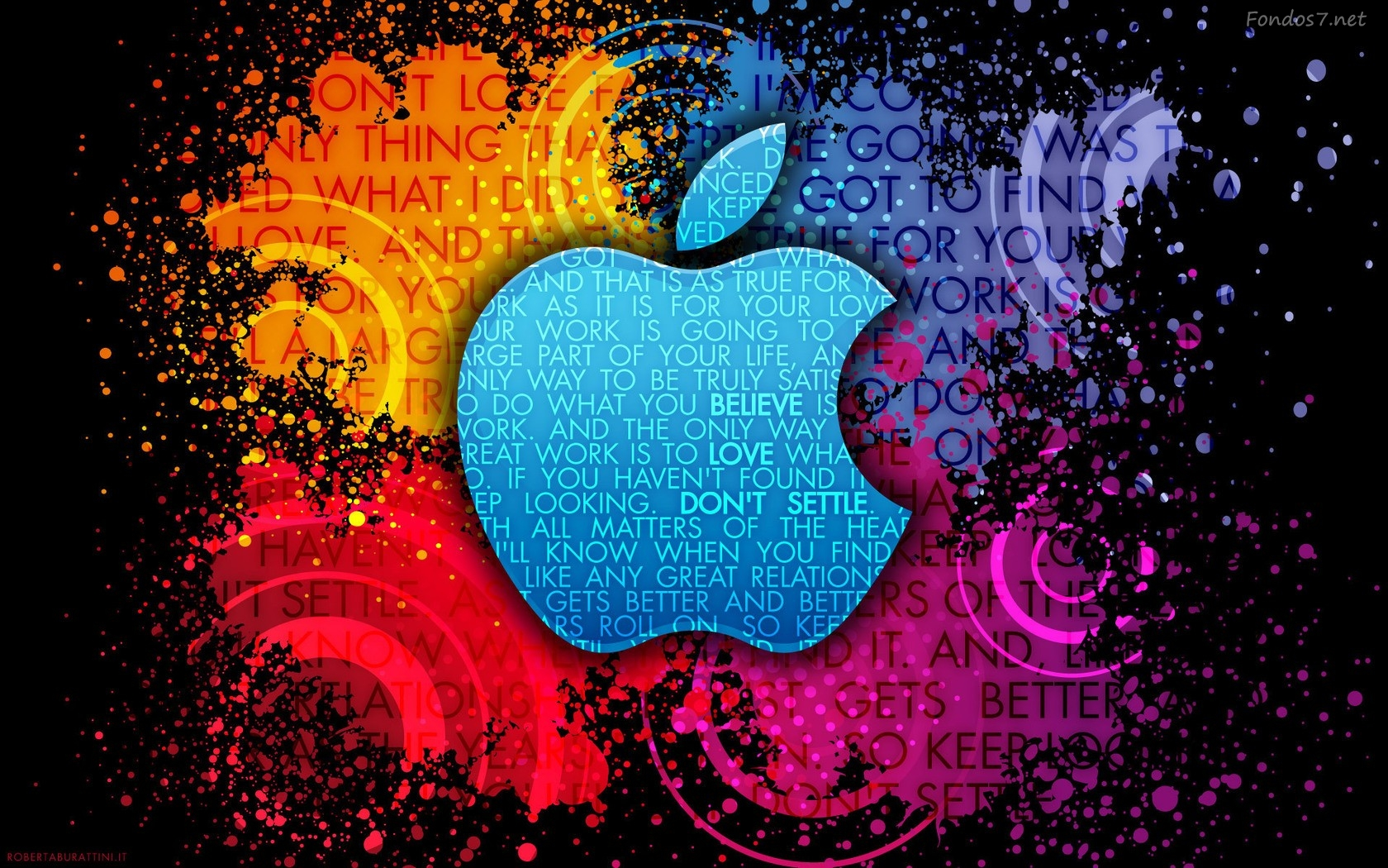 Descargar Fondos de pantalla apple color digital art hd widescreen 1680x1050