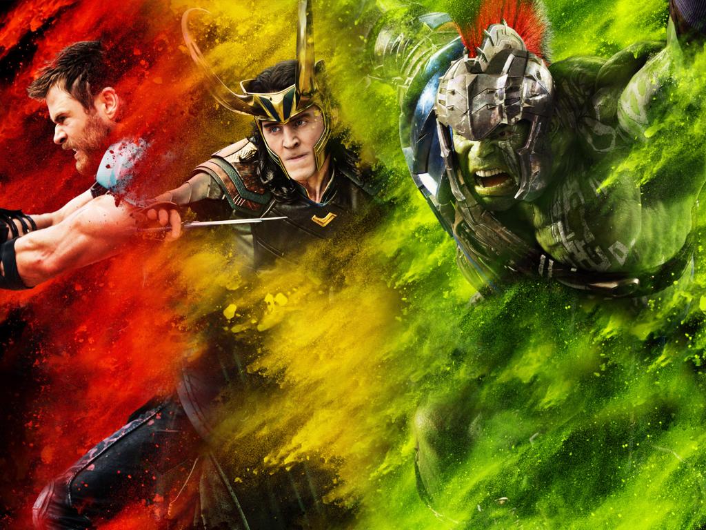 1024x768 Thor Loki Hulk Thor Ragnarok 1024x768 Resolution 1024x768