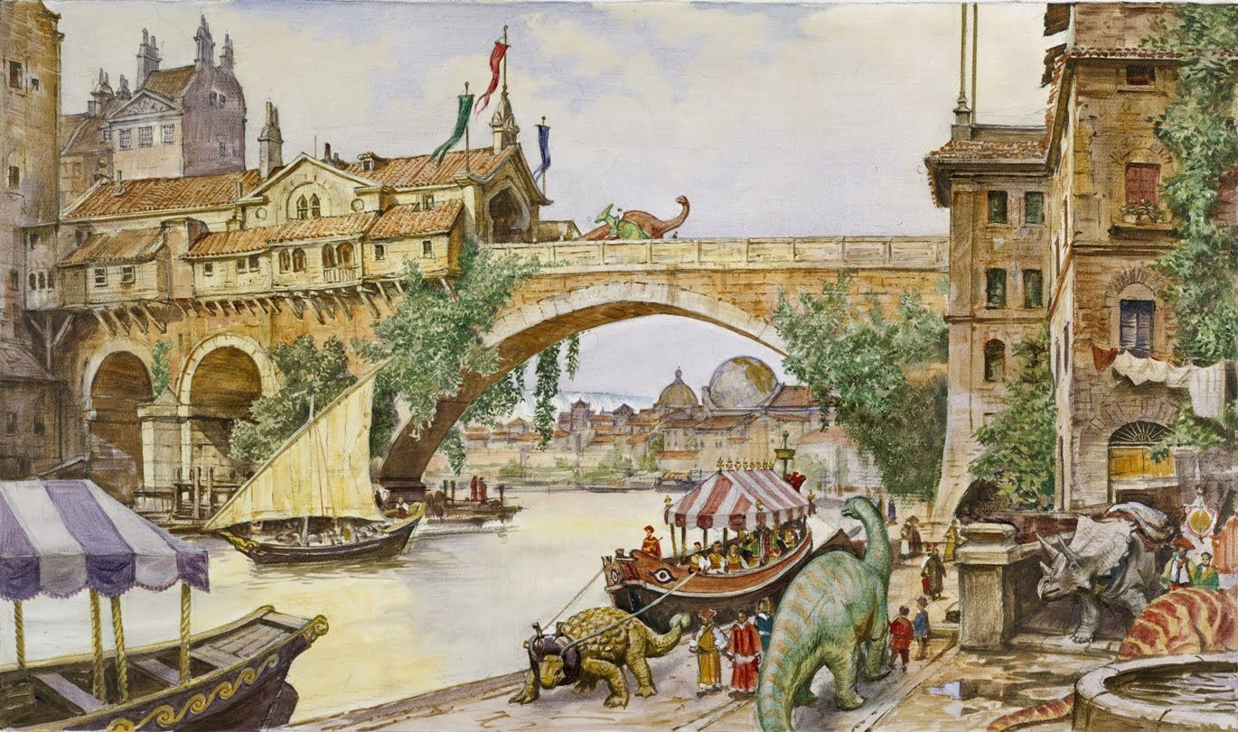 dinotopia Art review Dinotopia light entertaining exhibit 1370x811