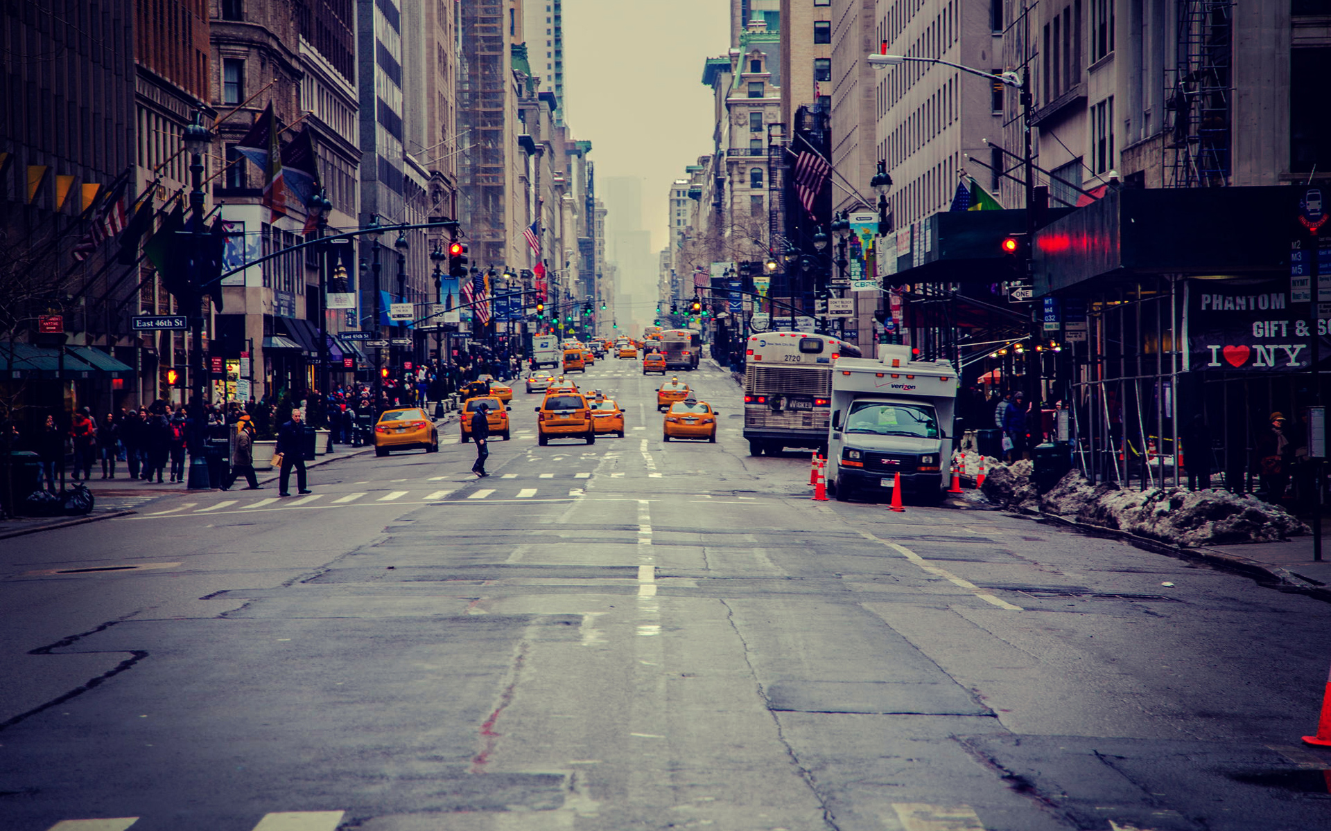 New York City Street Wallpaper - WallpaperSafari