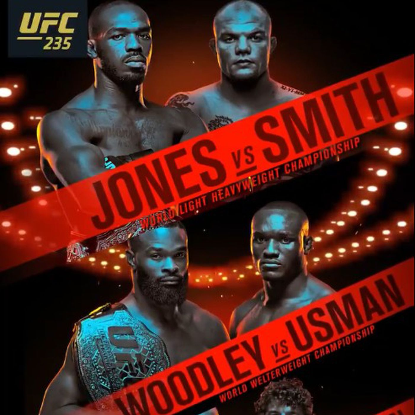 Pic UFC 235 official poster drops for Jones vs Smith 1400x1400